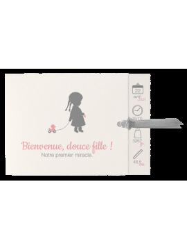 Carton d'invitation Papillons nacrés